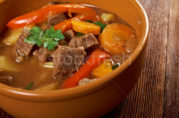 Irish stew with tender lamb meat Stock photo © fanfo