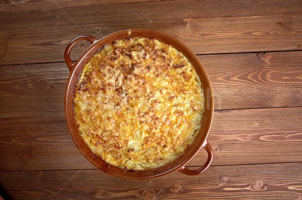 Cuisine française courgettes fromages alimentaire déjeuner légumes Photo stock © fanfo