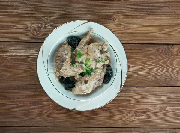 La coniglio buio salsa cucina ristorante Foto d'archivio © fanfo