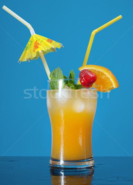 Mojito  strawberries  cocktail.  Stock photo © fanfo