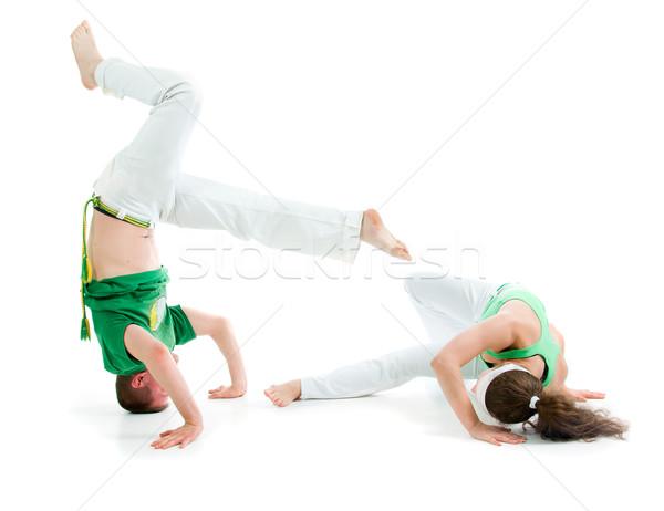 Сток-фото: контакт · спорт · Капоэйра · человека · подготовки · борьбе