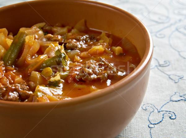 Suelo Turquía estofado col vegetales Foto stock © fanfo