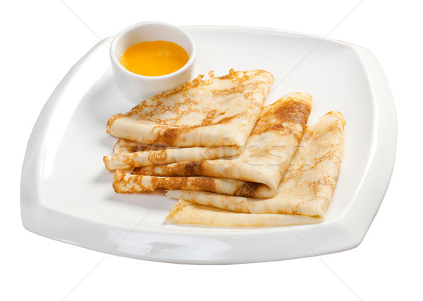 pancakes on the plate Stock photo © fanfo