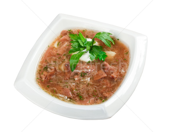 soup with beef Stock photo © fanfo