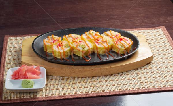 Japanese fried tempura  sushi   Stock photo © fanfo