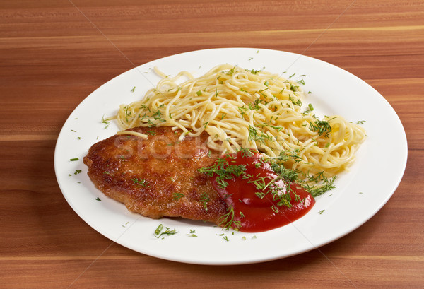 ızgara sığır eti akşam yemeği et biber yemek Stok fotoğraf © fanfo