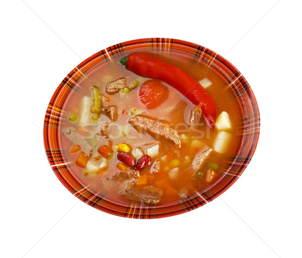 spicy Mexican soup Stock photo © fanfo