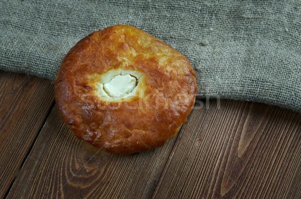 Túró orosz étel torta kenyér ebéd Stock fotó © fanfo