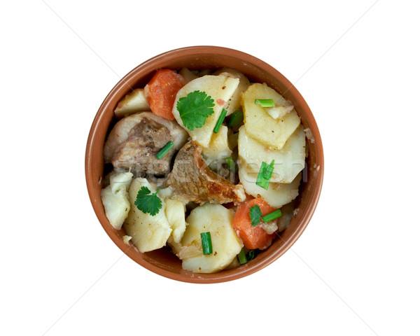 блюдо французский картофель лук баранина Сток-фото © fanfo