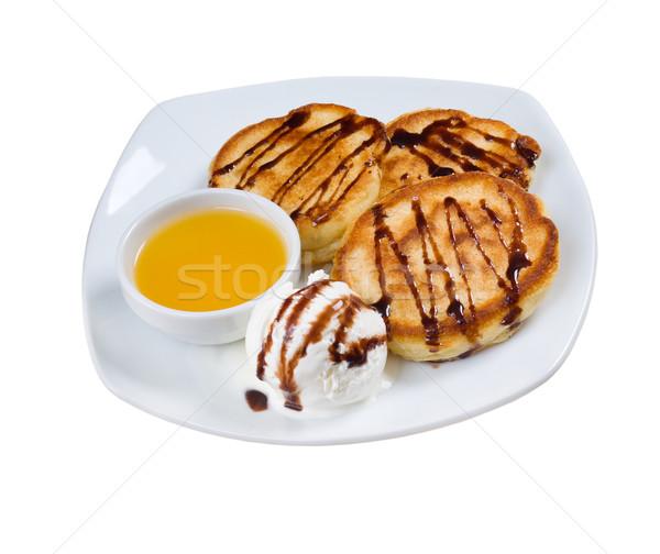 午前 サワークリーム ジャム プレート 脂肪 ホット ストックフォト © fanfo
