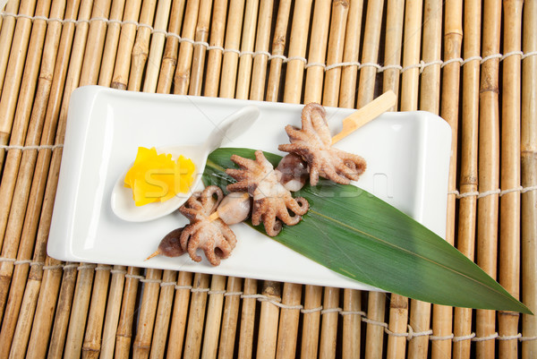 Japanese octopus skewered.  Stock photo © fanfo