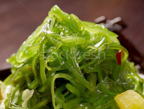 Zdjęcia stock: Sałatka · wodorost · warzyw · żywności · naczyń