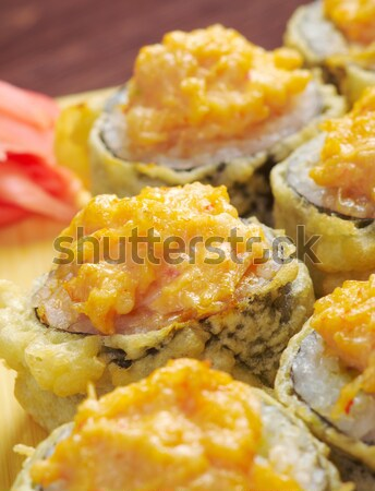 Japanese fried tempura  sushi   Stock photo © fanfo