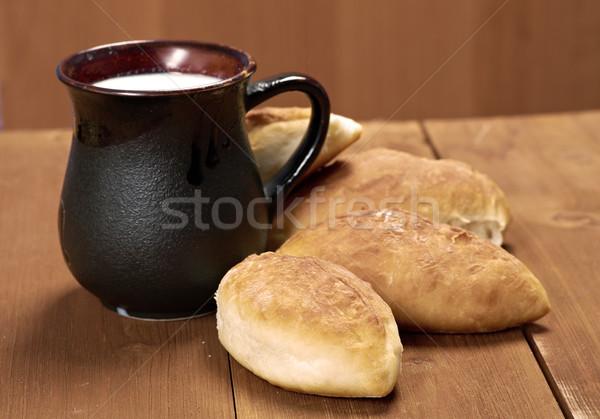 Сток-фото: Россия · Традиции · торт · домой · капуста · деревянный · стол