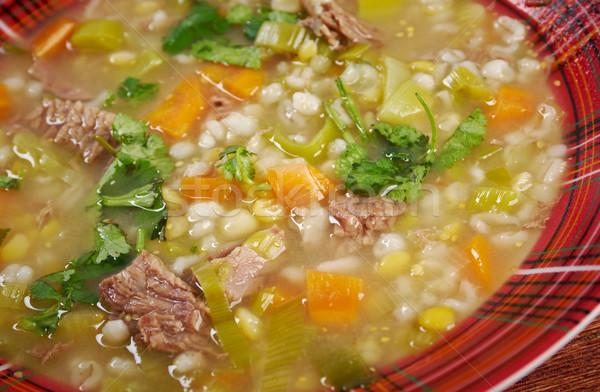 бульон суп мяса кухне еды Pearl Сток-фото © fanfo
