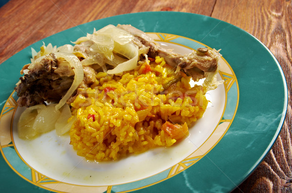 Pikantny marynowane żywności przygotowany Afryki Zdjęcia stock © fanfo