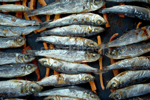 baked herring Stock photo © fanfo