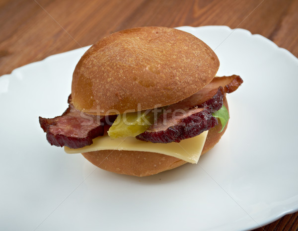 american sandwich Stock photo © fanfo