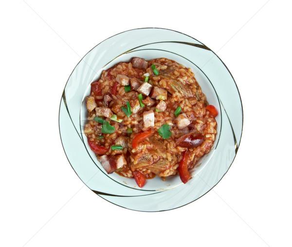 Сток-фото: красный · риса · саванна · блюдо