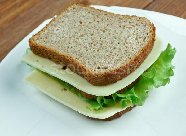 Holland szendvics közelkép sajt pirítós makró Stock fotó © fanfo
