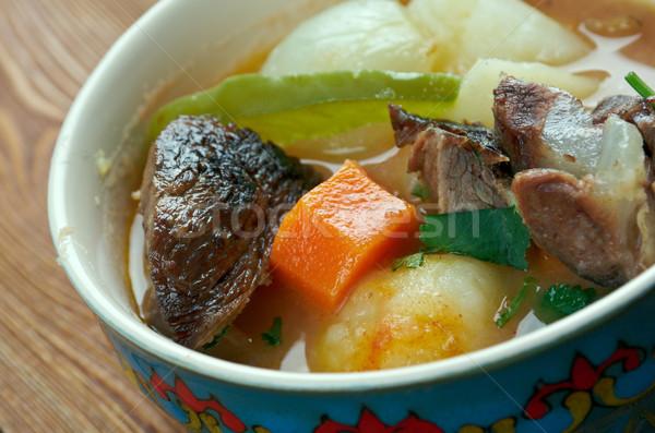 Japán edény hús krumpli hagyma szójaszósz Stock fotó © fanfo