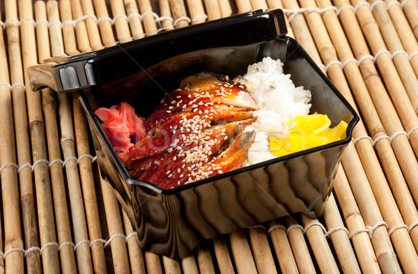 broiled eel on rice. unagi  Stock photo © fanfo