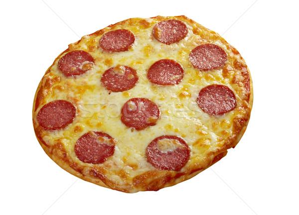 Caseiro pizza queijo tomates almoço rápido Foto stock © fanfo