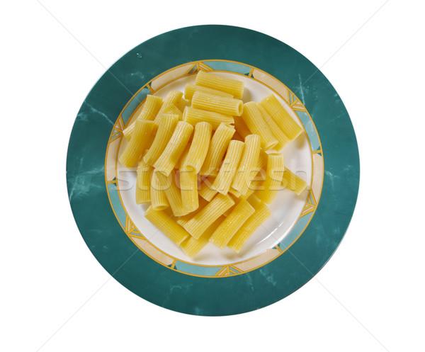 Photo stock: Pâtes · nourriture · italienne · isolé · blanche · dîner · olive