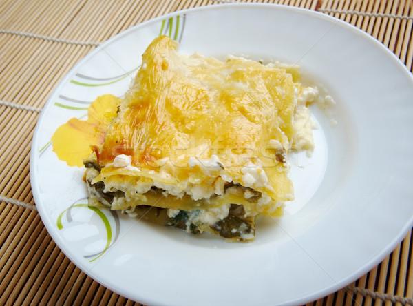 Ricotta lasagna fatto in casa carne terra Foto d'archivio © fanfo