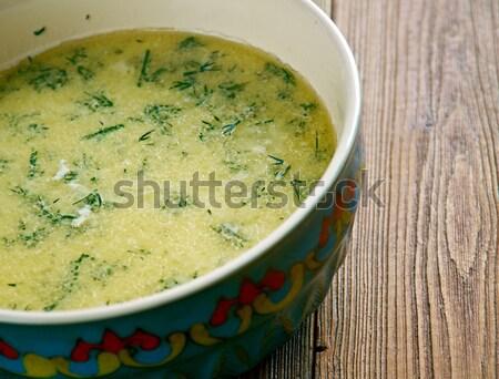 étel leves főtt választék gyógynövények tojás Stock fotó © fanfo