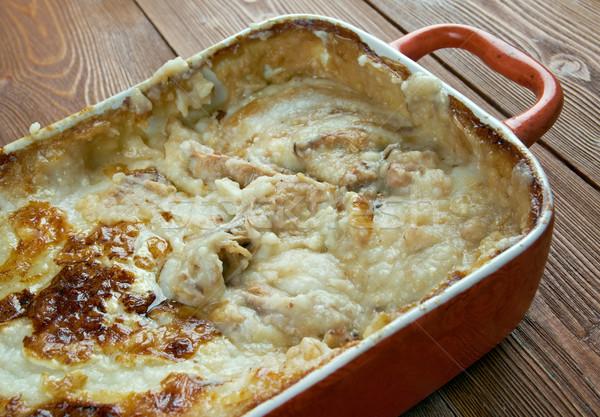 Pite hagyományos étel délnyugat krumpli Stock fotó © fanfo