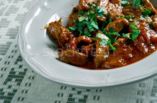 Húngaro estofado de res cocina olla carne de vacuno Foto stock © fanfo