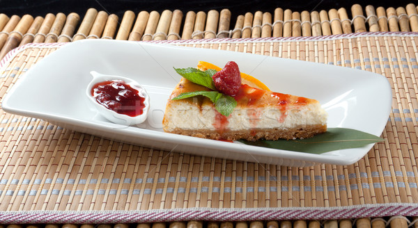Sernik deser żywności ciasto zielone Zdjęcia stock © fanfo