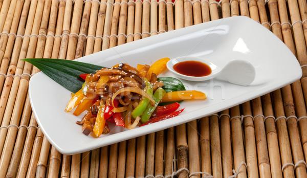 Japanese Stir Fried Vegetables Stock photo © fanfo
