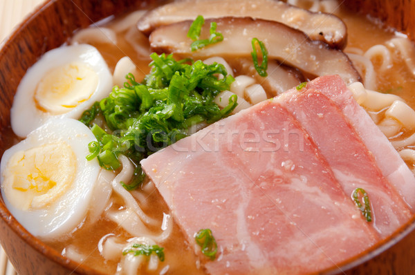 delicious miso ramen Stock photo © fanfo
