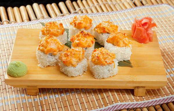 Japán szusi hagyományos japán étel zsemle pörkölt Stock fotó © fanfo