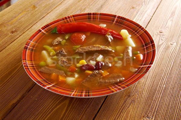 Piccante mexican zuppa come chili alimentare Foto d'archivio © fanfo