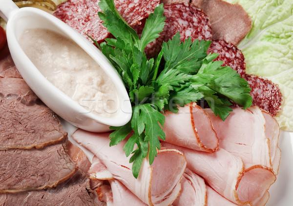 Szeletel étel hús kolbász egyezség olasz Stock fotó © fanfo