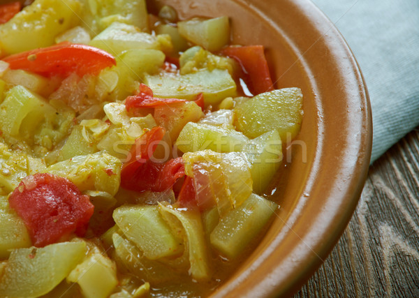 Mixed vegetable kurma Stock photo © fanfo