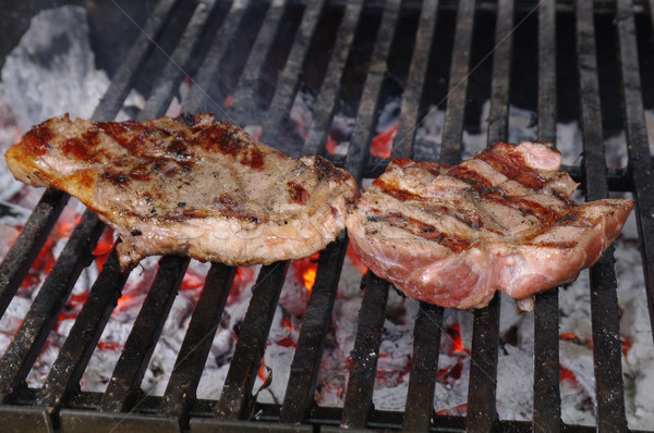 Sirloin steak prepared on the barbecue grill. Stock photo © fanfo