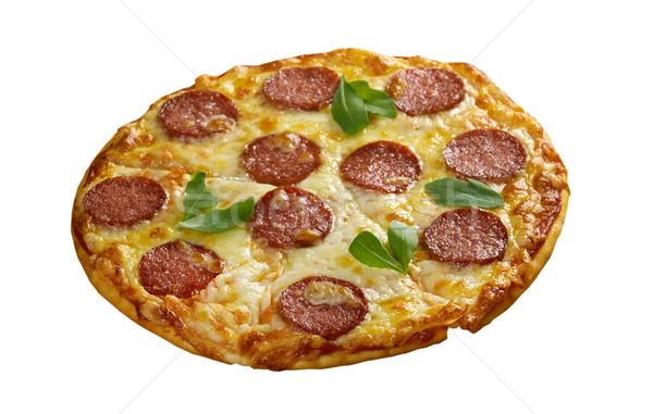 Casero pizza queso tomate almuerzo rápido Foto stock © fanfo