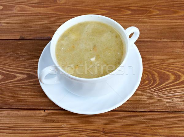 Kremowy kapusta zupa śmietana tablicy mięsa Zdjęcia stock © fanfo