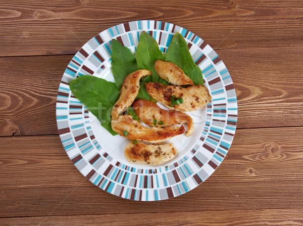 Сток-фото: жареная · курица · кухня · Ингредиенты · бальзамического · уксуса · гвоздика · чеснока