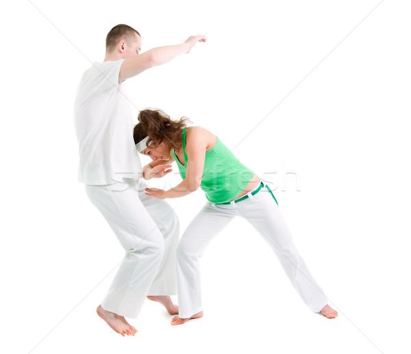 Сток-фото: контакт · спорт · Капоэйра · подготовки · борьбе · танцовщицы