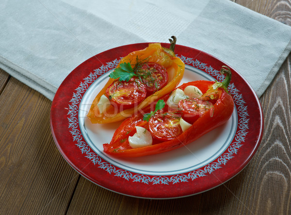 Piedmontese Roasted peppers Stock photo © fanfo