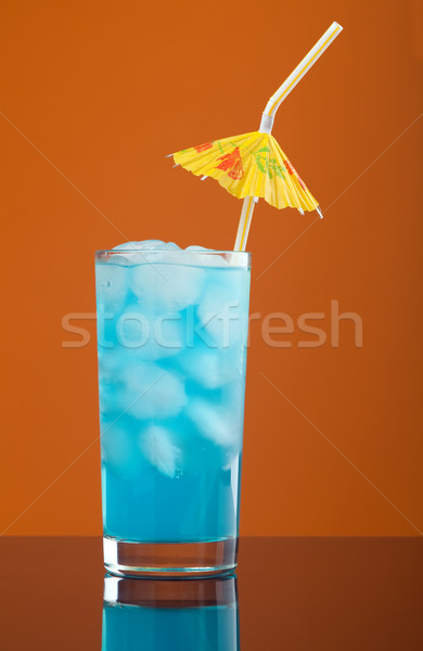 Blue hawaiian cold cocktail   Stock photo © fanfo