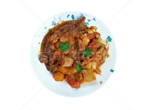çorba geleneksel mutfak et Stok fotoğraf © fanfo