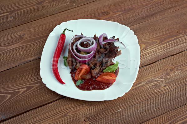 Tradicional mexicano cerdo plato placa carne Foto stock © fanfo