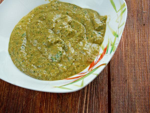 Sos Afrika sıcak sos gıda kırmızı Stok fotoğraf © fanfo