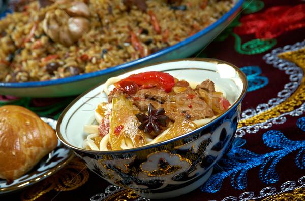 food set  Central Asian cuisine Stock photo © fanfo
